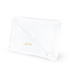 kate spade new york acrylic business card holder strike gold - Kate Spade Business Card Holder