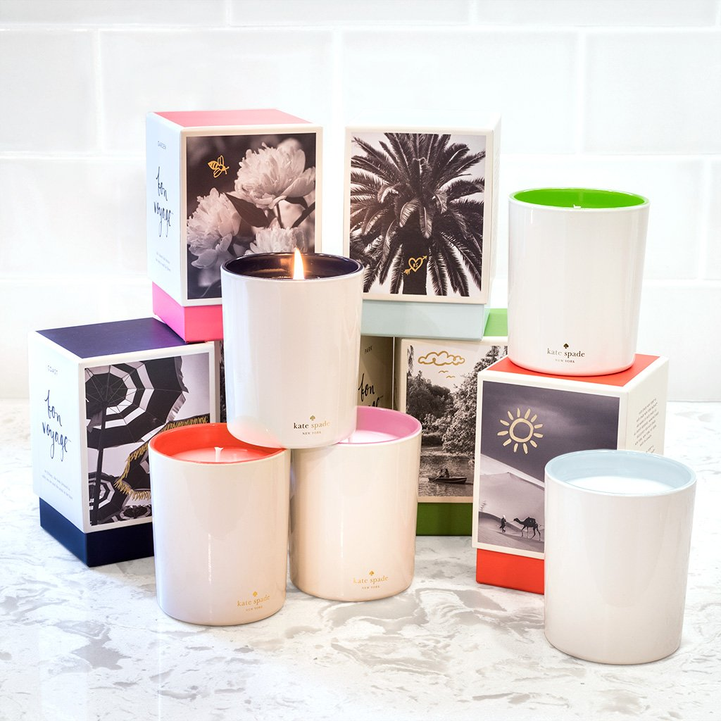 kate spade new york large candle - garden