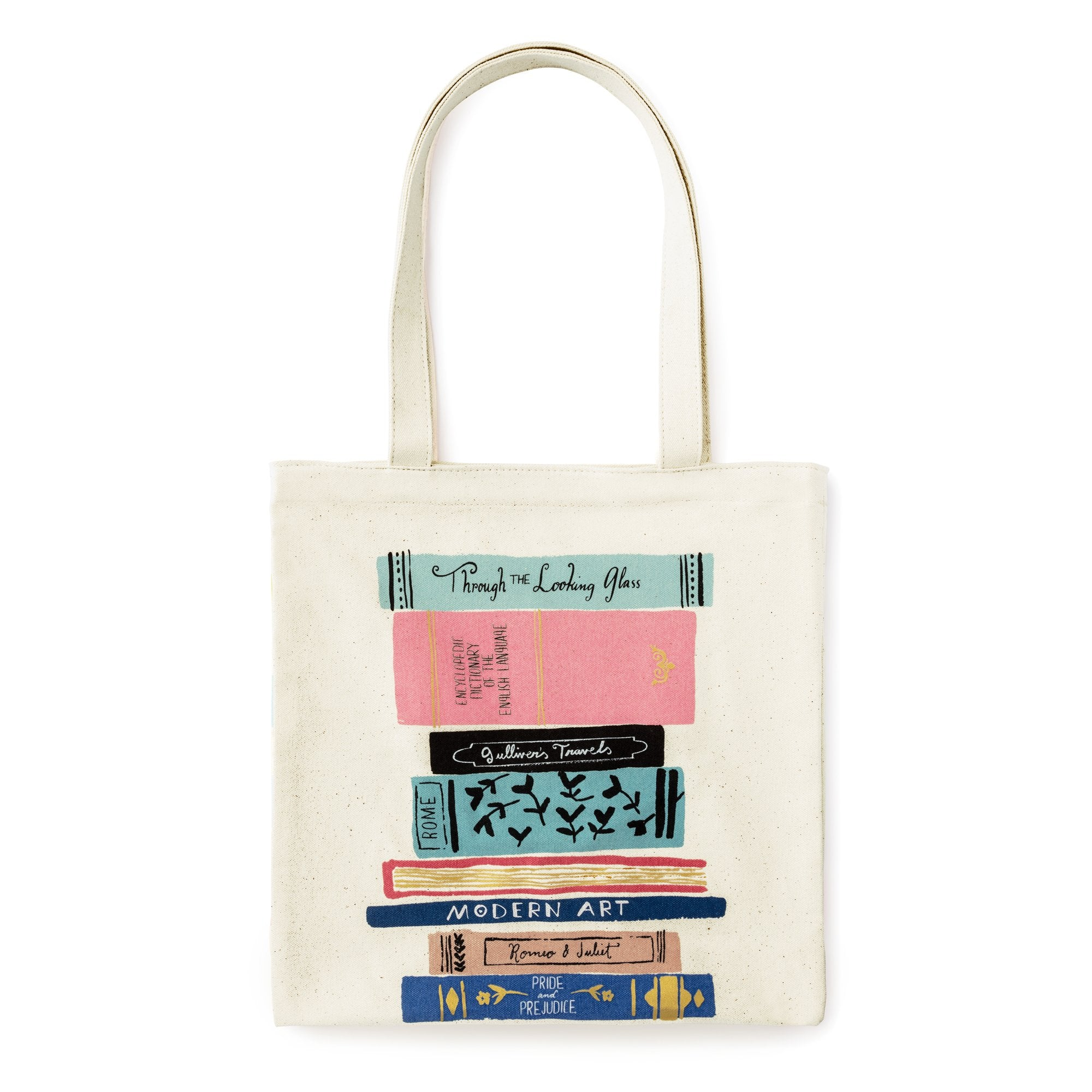e314e5e6bef kate spade new york Canvas Book Tote, Stack of Classics