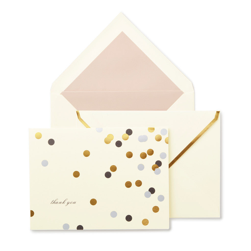kate spade new york thank you Notecard Set - Confetti Dot