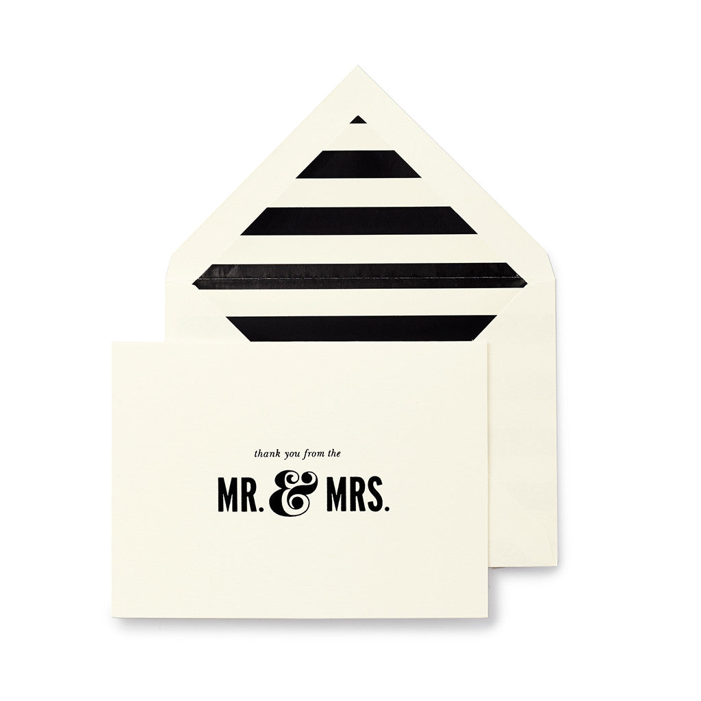 kate spade new york bridal note card set - mr. & mrs. - lifeguard-press - 1