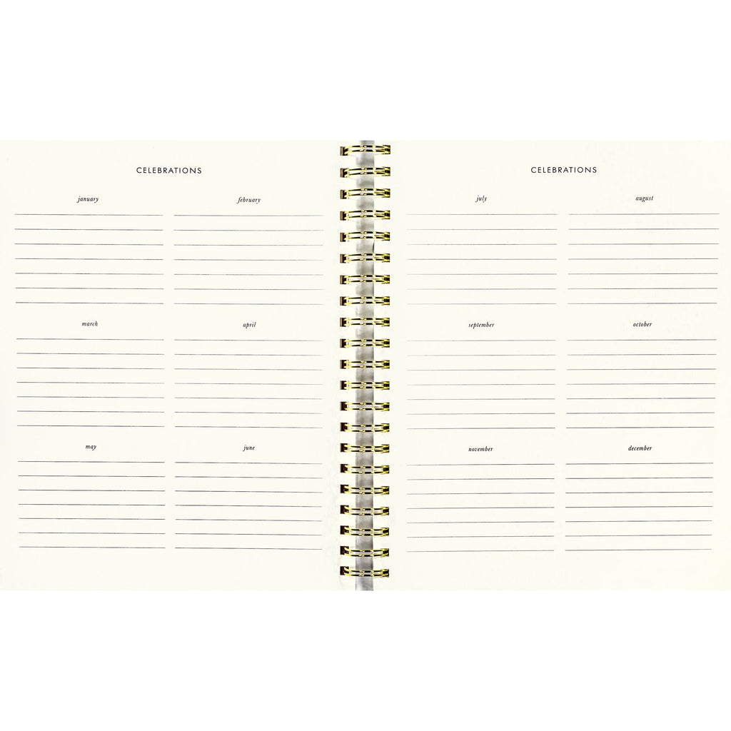 kate spade new york Large Planner, Gold Floral (Aug-Aug)