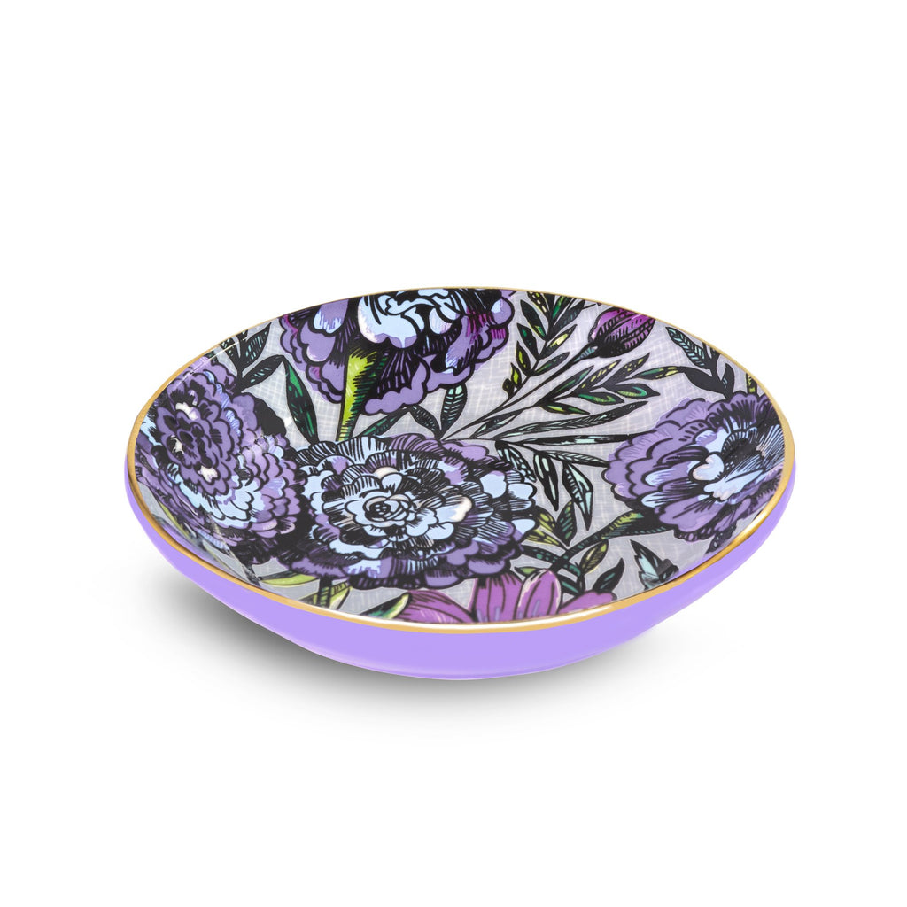 Ceramic Ring Dish, Lavender Meadow