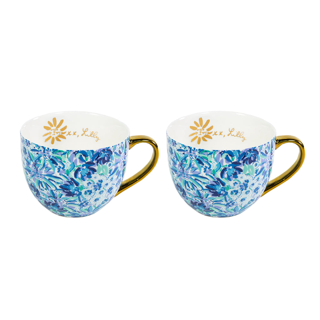 Lilly Pulitzer Ceramic Mug Set, High Manetenance