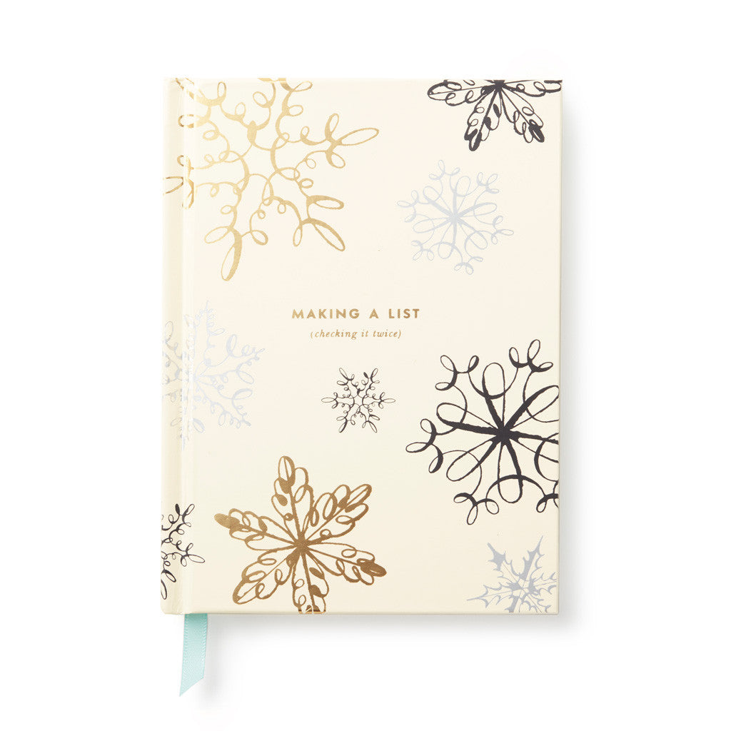 kate spade new york Holiday Gift List Pad - Snowflake