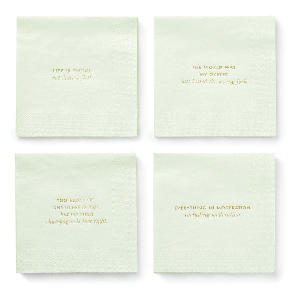 kate spade new york cocktail napkins - musings