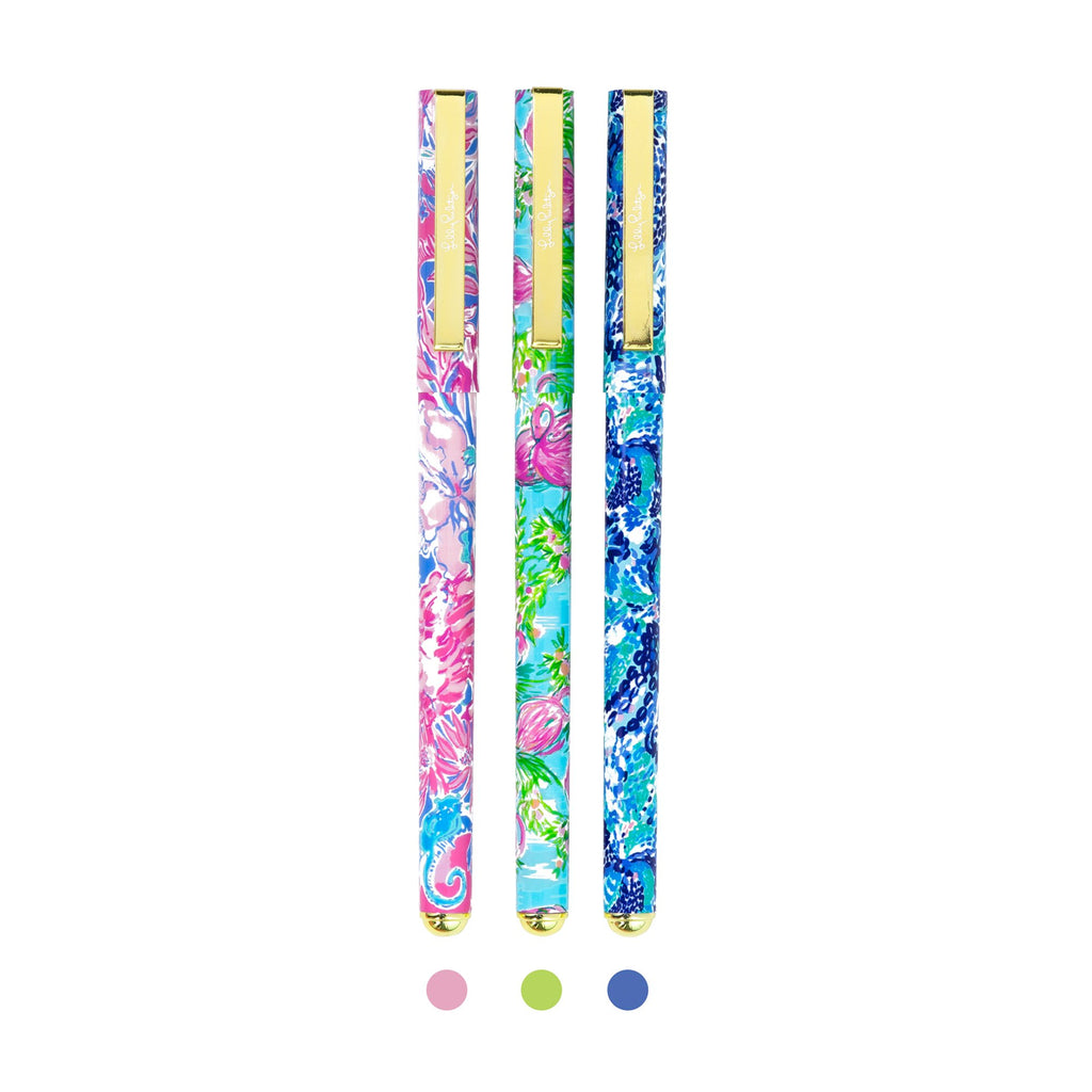 Lilly Pulitzer Colored Pen Set, Viva La Lilly