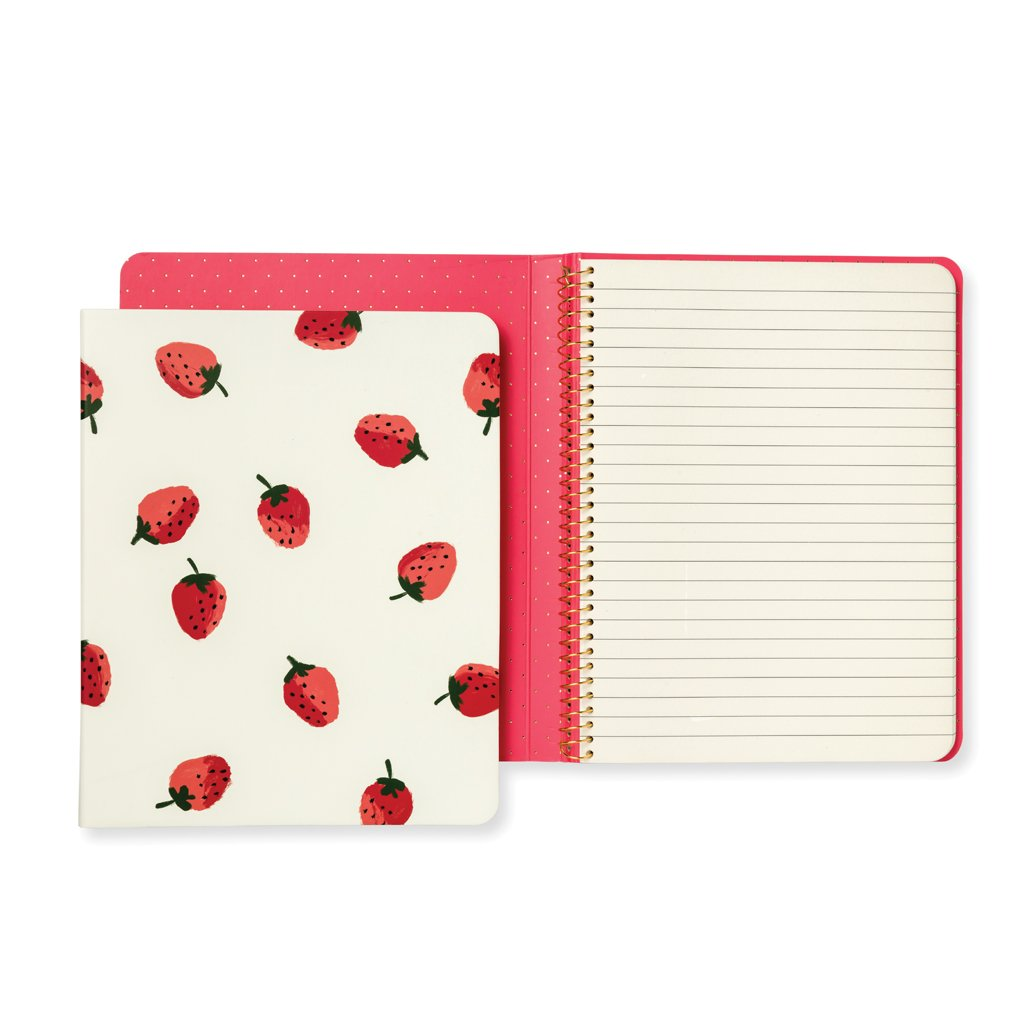 kate spade new york Concealed Spiral Notebook - Strawberries