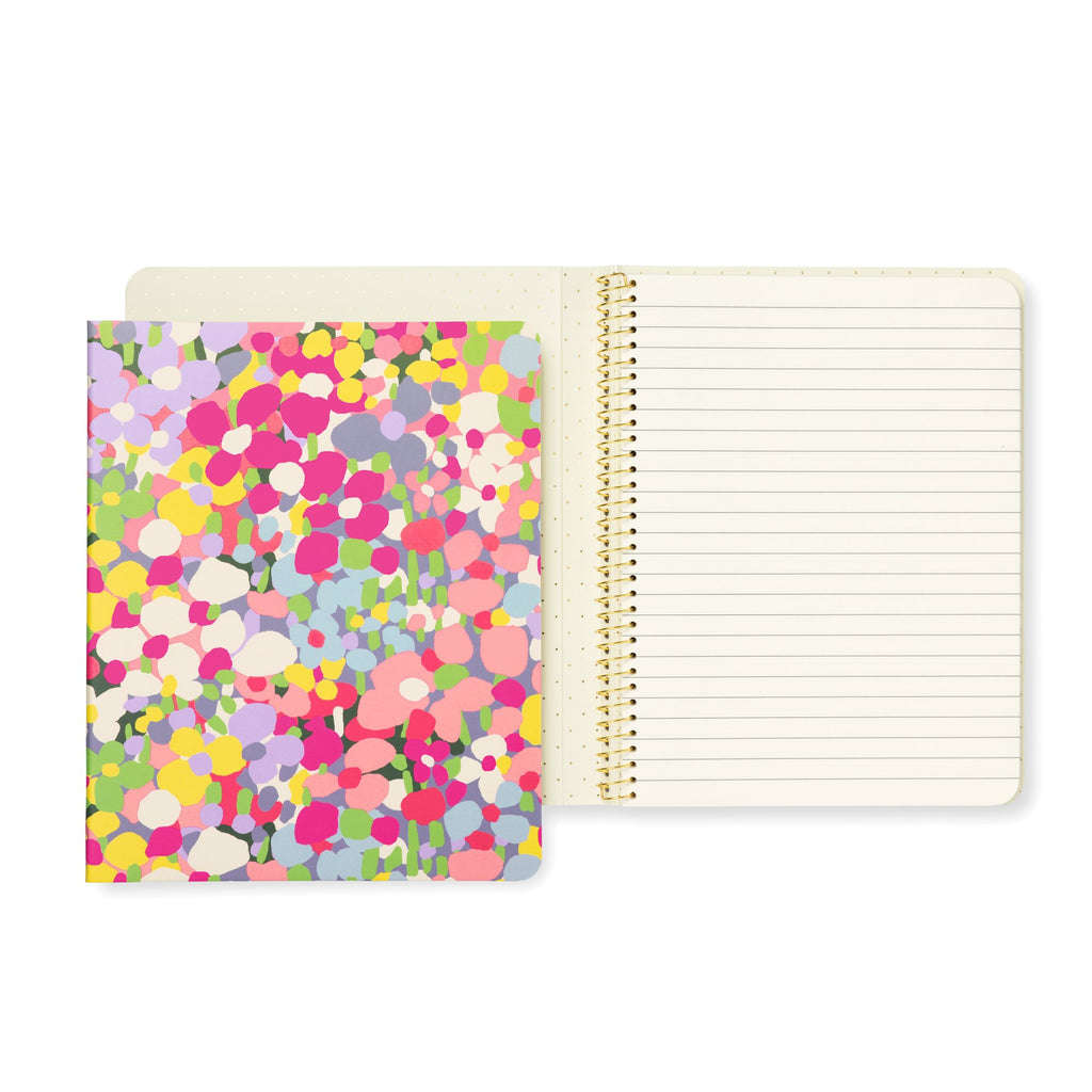 kate spade new york Concealed Spiral Notebook, Floral Dot