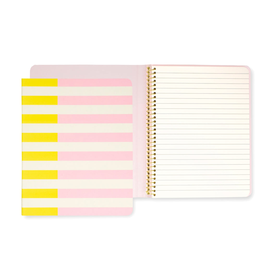 kate spade new york Concealed Spiral Notebook, Two-tone Stripe