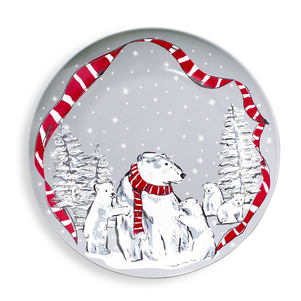 Vera Bradley Cookie Plate, Beary Merry