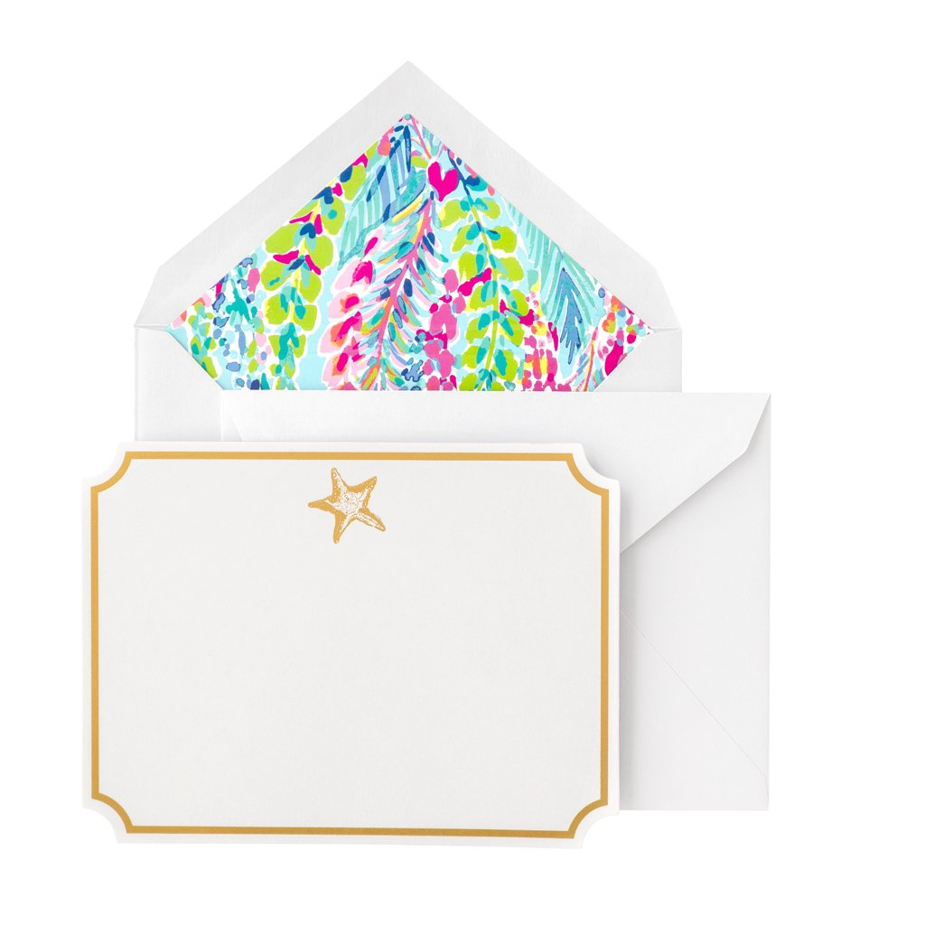 Lilly Pulitzer Correspondence Cards - Catch The Wave