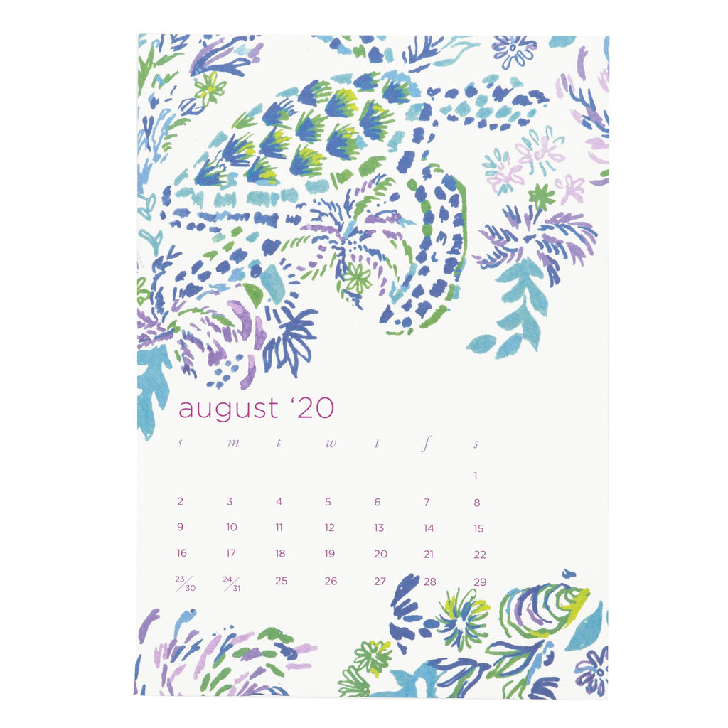 Lilly Pulitzer Easel Desk Calendar, Lion Around