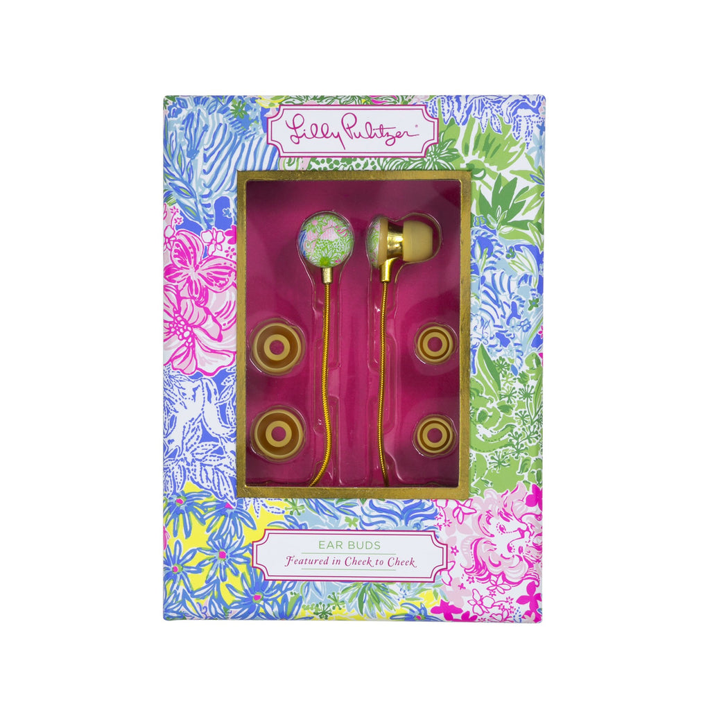 Lilly Pulitzer Earbuds, Cheek To Cheek