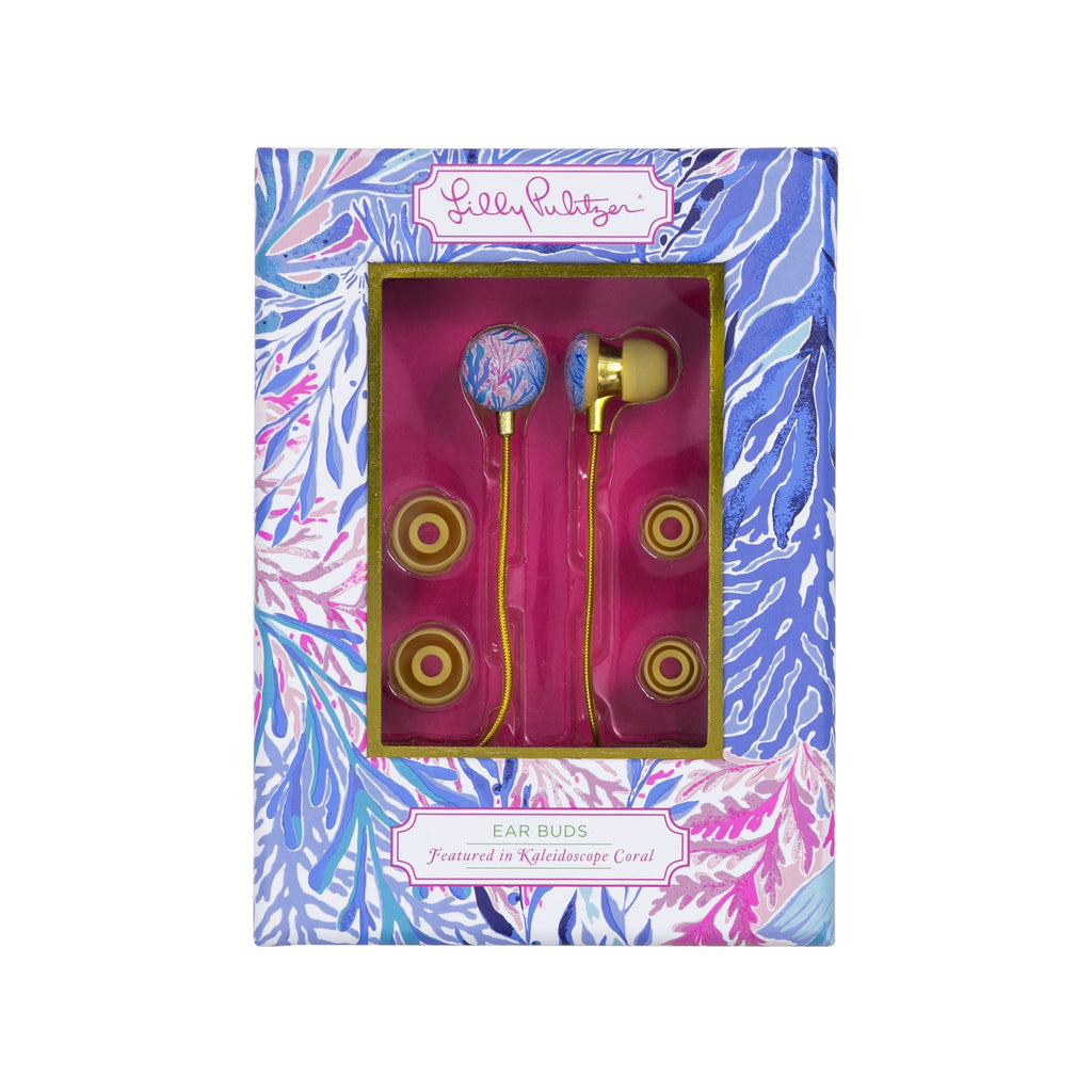 Lilly Pulitzer Earbuds, Kaleidoscope Coral