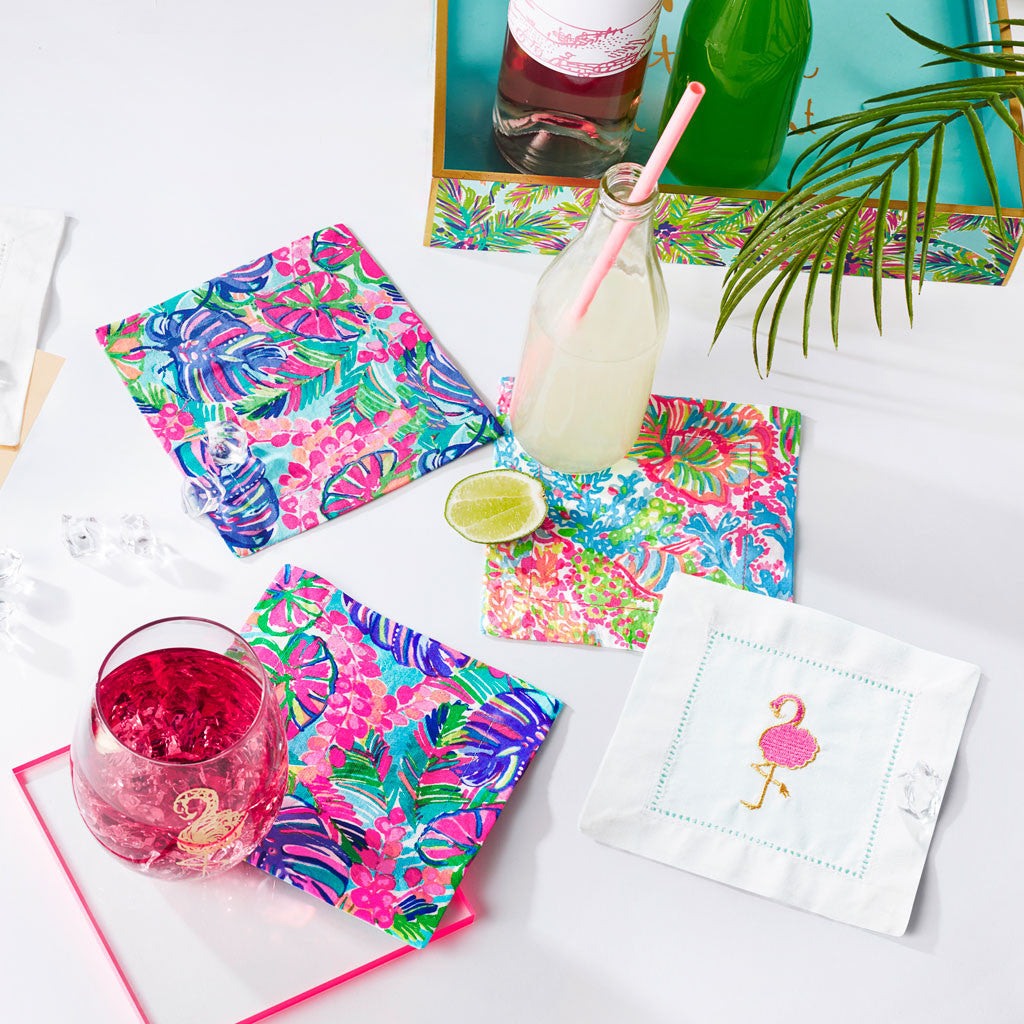 Lilly Pulitzer Cocktail Napkins - Exotic Garden - lifeguard-press - 2