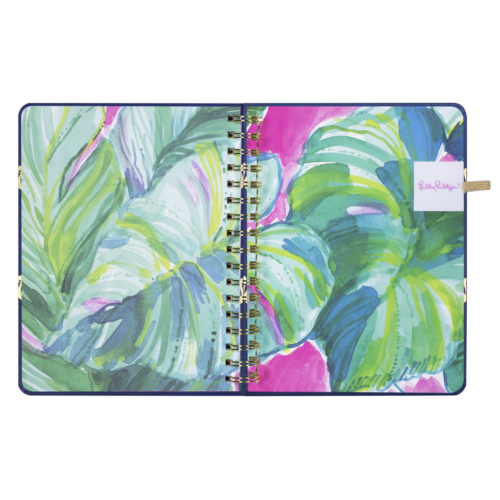 lilly pulitzer 17 month large agenda - Navy Flamingo