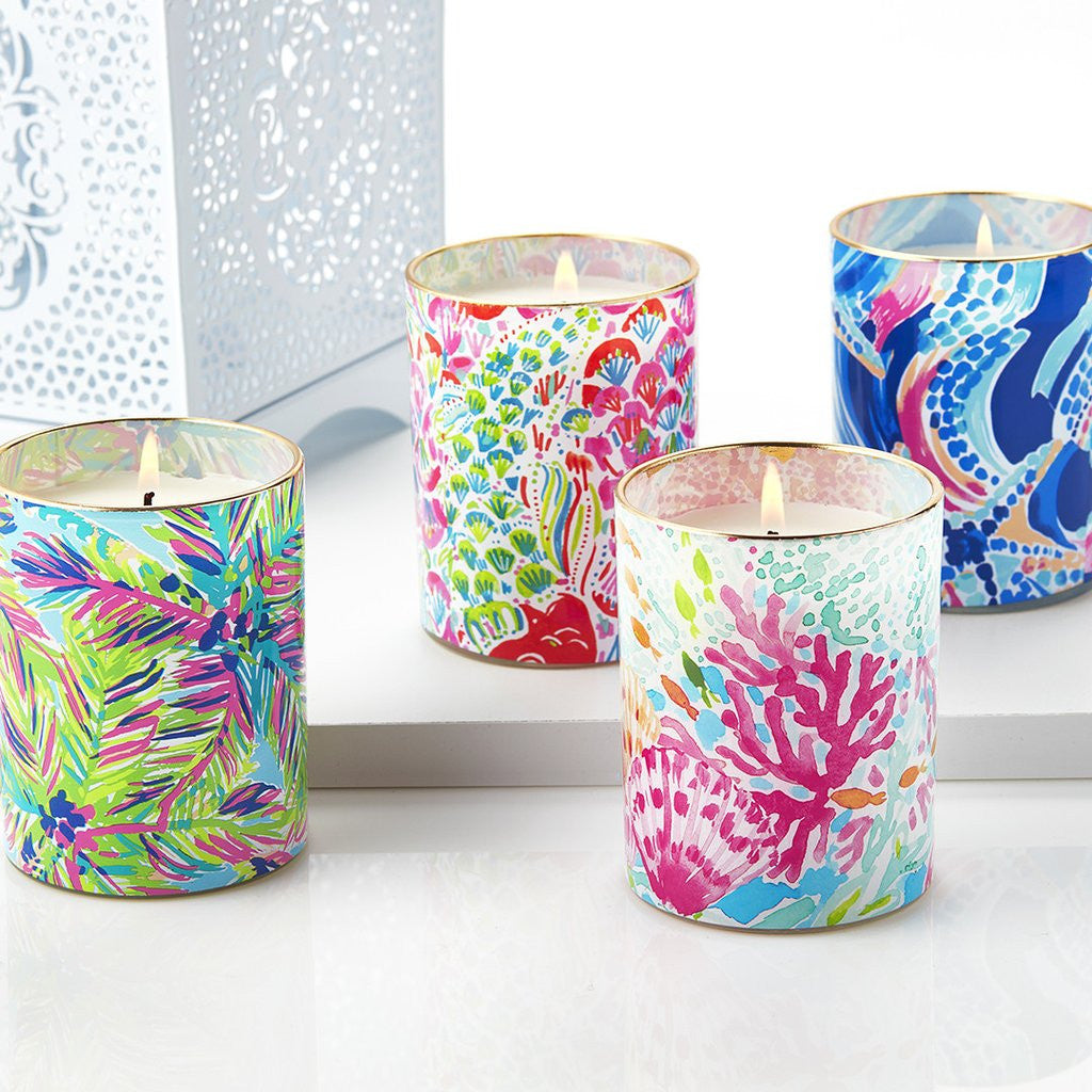 Lilly Pulitzer Glass Candle - Coral Cay - lifeguard-press - 2
