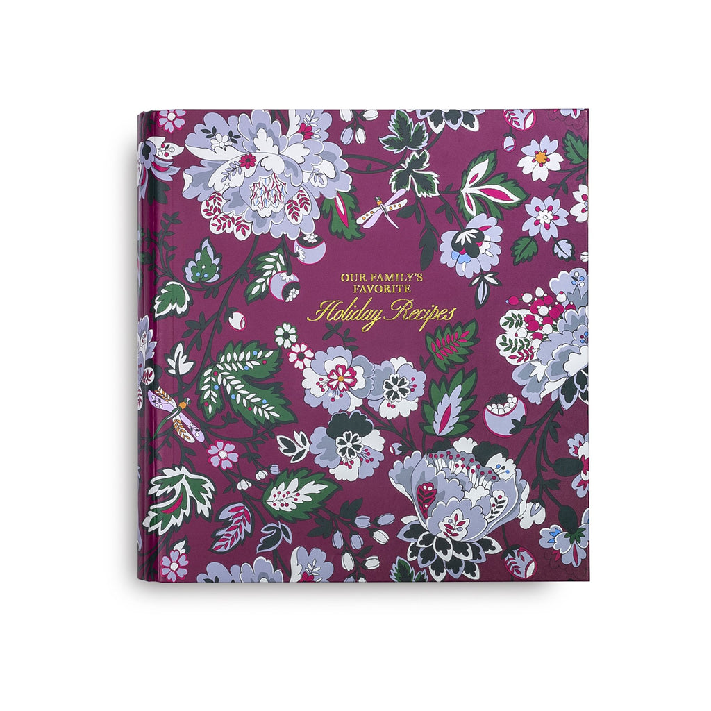 Vera Bradley Recipe Book, Bordeaux Blossoms