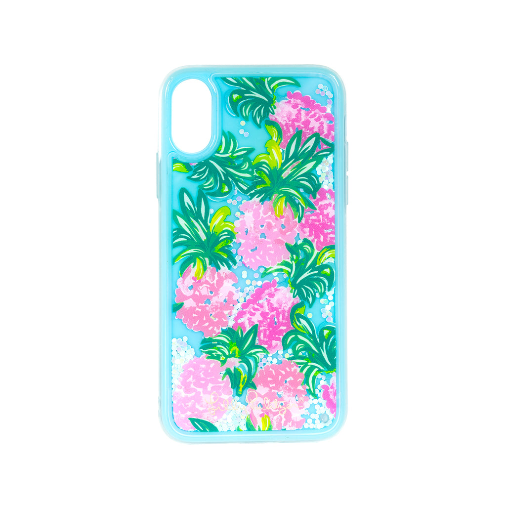 Lilly Pulitzer Iphone case XS - Glitter, Pineapple Shake