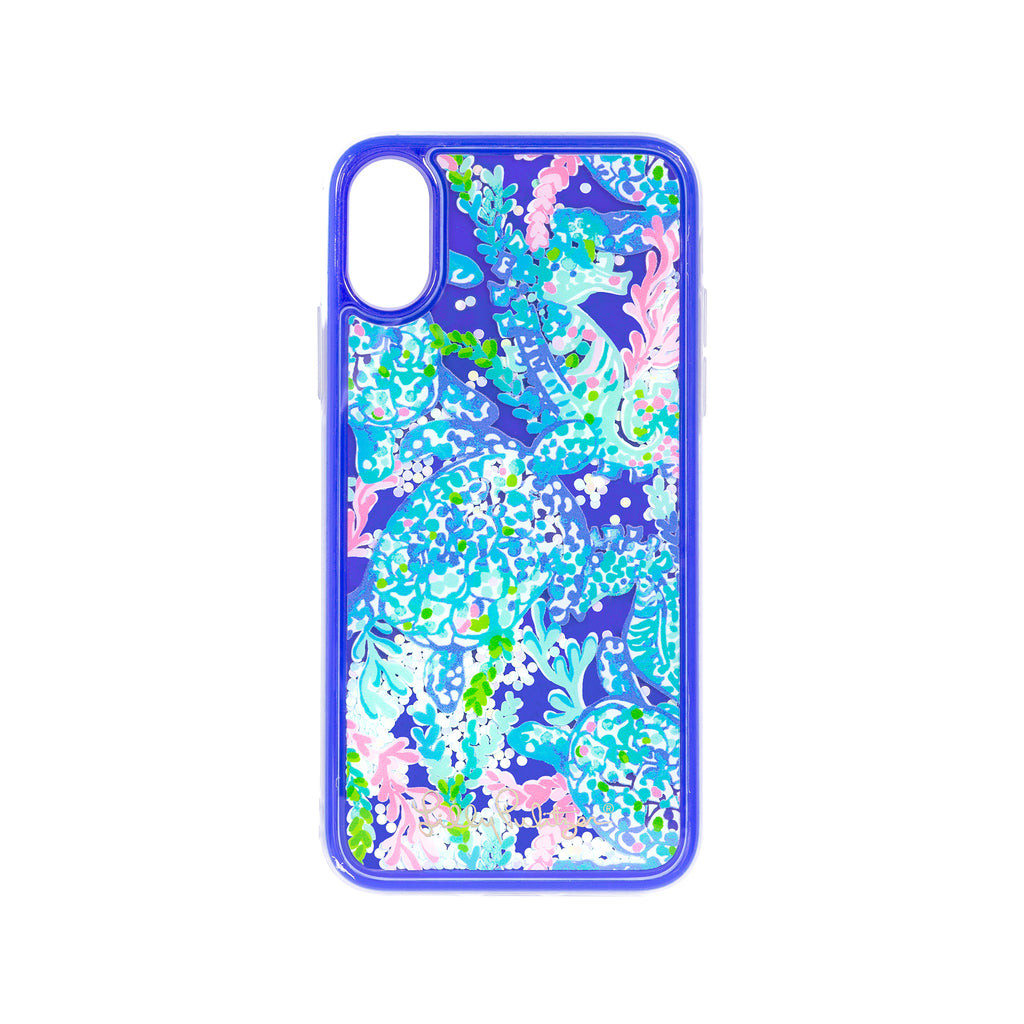Lilly Pulitzer Iphone case XS - Glitter, Turtle Villa