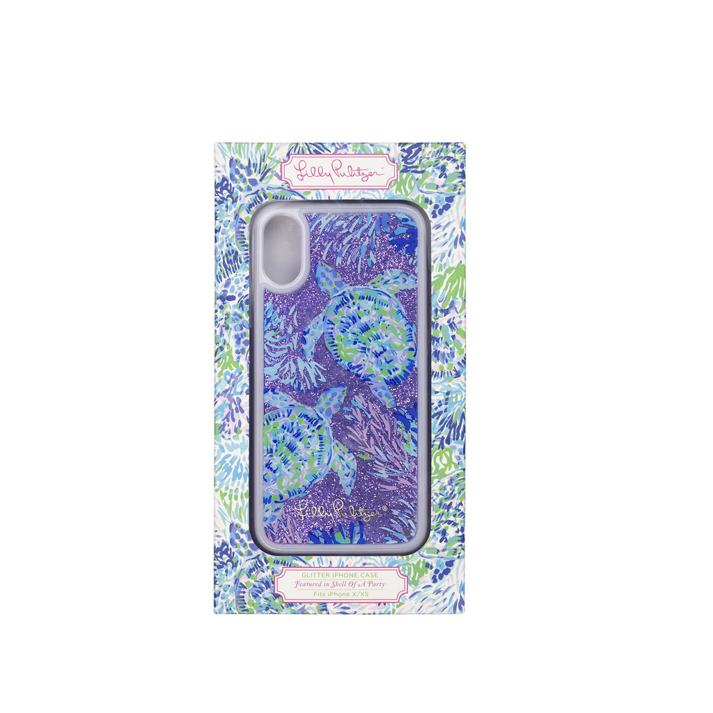 Lilly Pullitzer Glitter Iphone Case X/Xs, Shell of a Party
