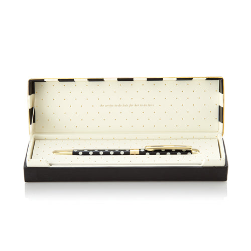 kate spade new york ballpoint pen - black dots - lifeguard-press - 1