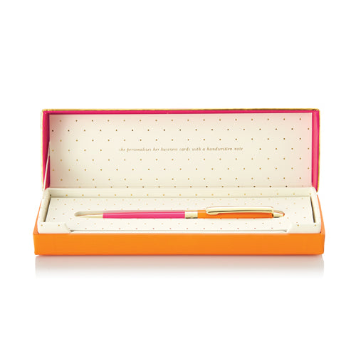 kate spade new york ballpoint pen - orange and pink - lifeguard-press - 1