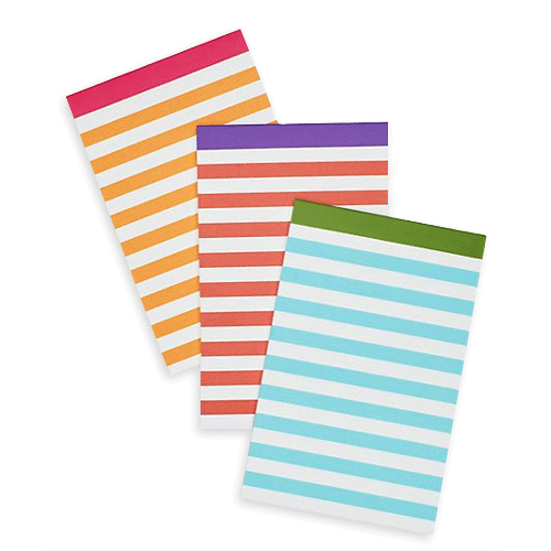 kate spade new york candy stripe notepad set - lifeguard-press - 1