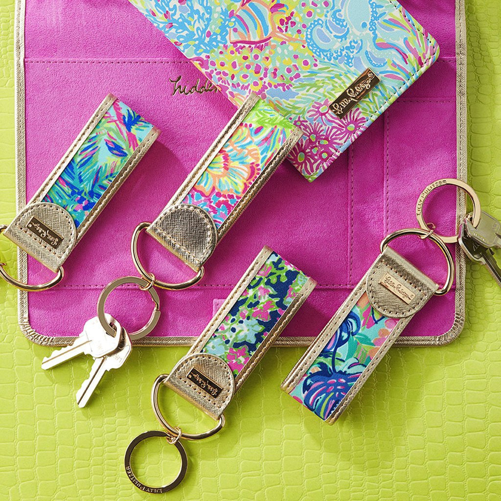 Lilly Pulitzer Key Fob - Lover's Coral - lifeguard-press - 2