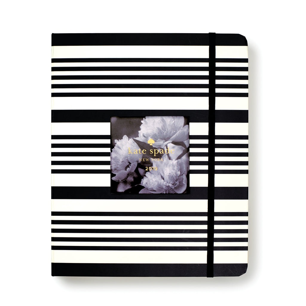 kate spade new york Large Calendar Year Planner, Black Stripe (Jan-Dec)
