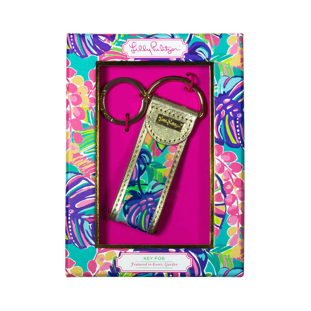 Lilly Pulitzer Key Fob - Exotic Garden - lifeguard-press - 1