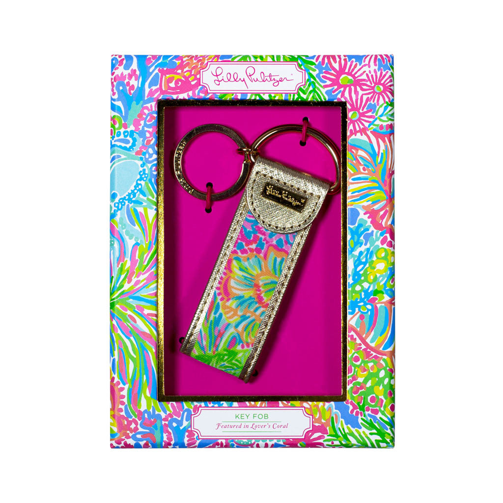 Lilly Pulitzer Key Fob - Lover's Coral - lifeguard-press - 1