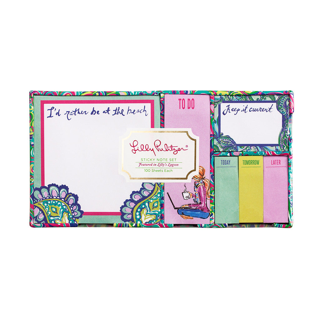 Lilly Pulitzer Sticky Note Set - Lilly's Lagoon - lifeguard-press