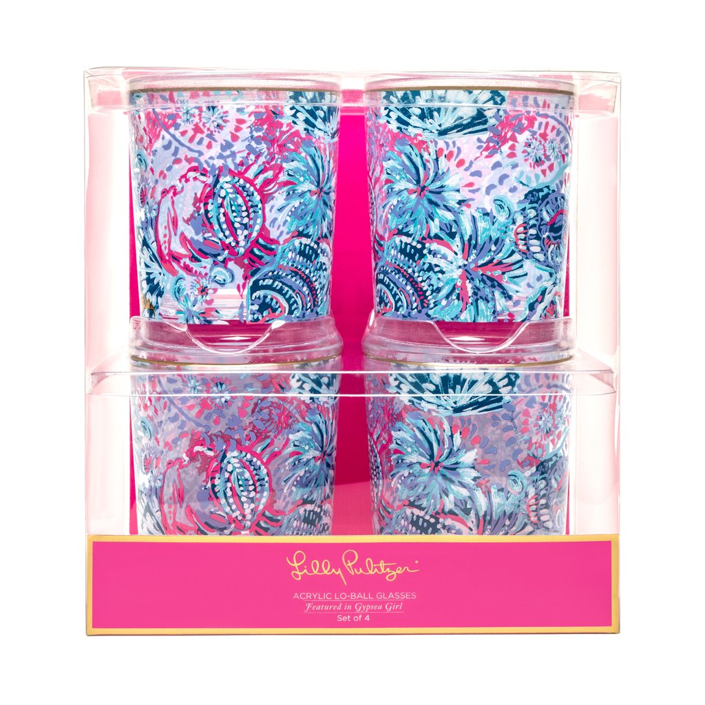 Lilly Pulitzer Lo Ball Glass - Gypsea Girl