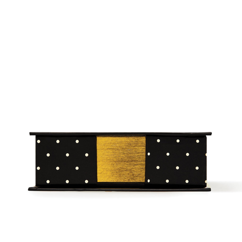 kate spade new york Loose Note Holder With Pen, Black Dots