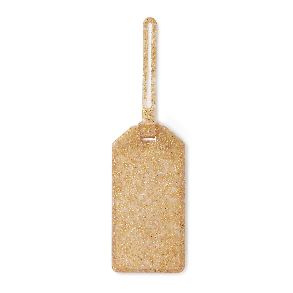 kate spade new york Luggage Tag - Gold Glitter