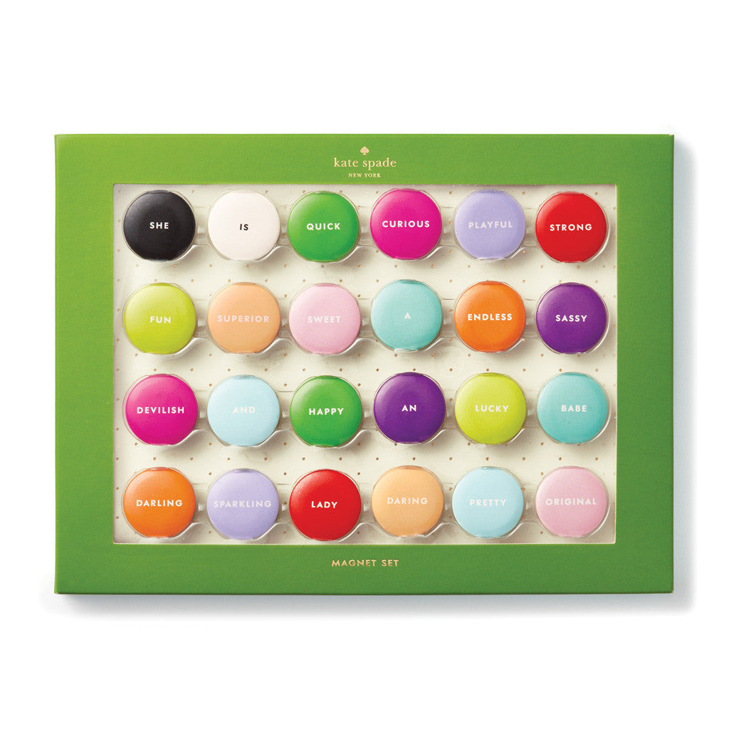 kate spade new york magnet set - assorted