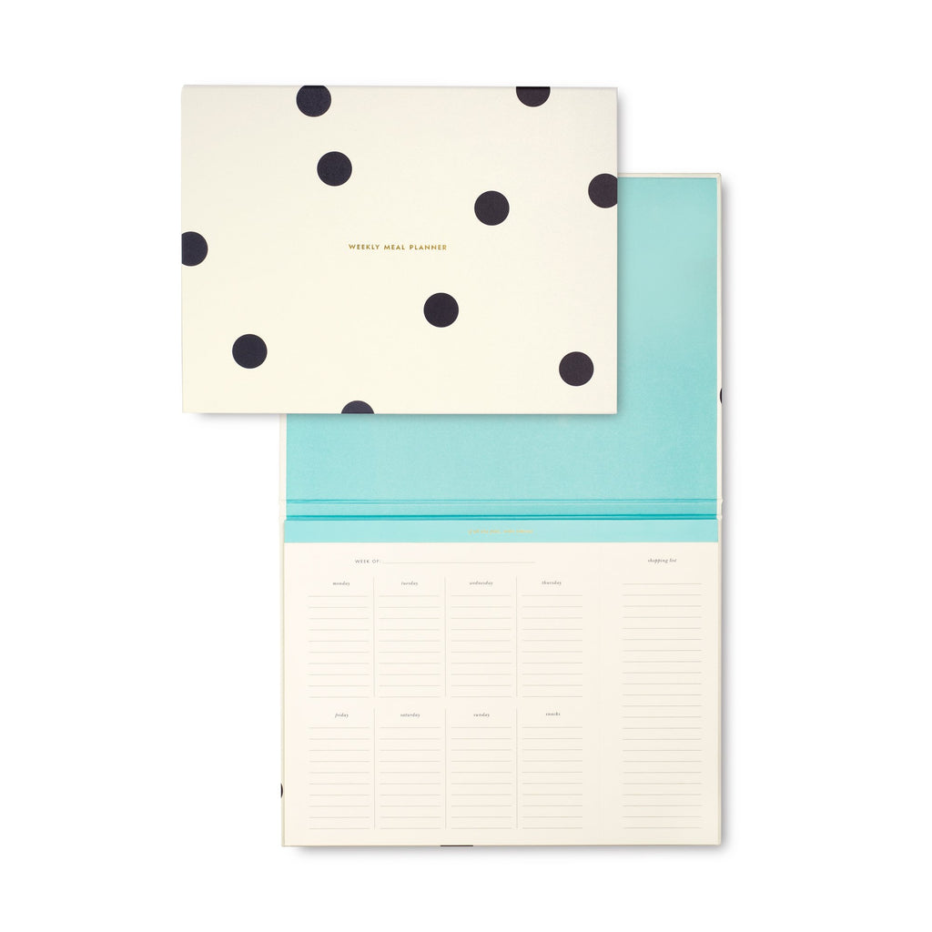 kate spade new york Meal Planner/Market List, Black Dot