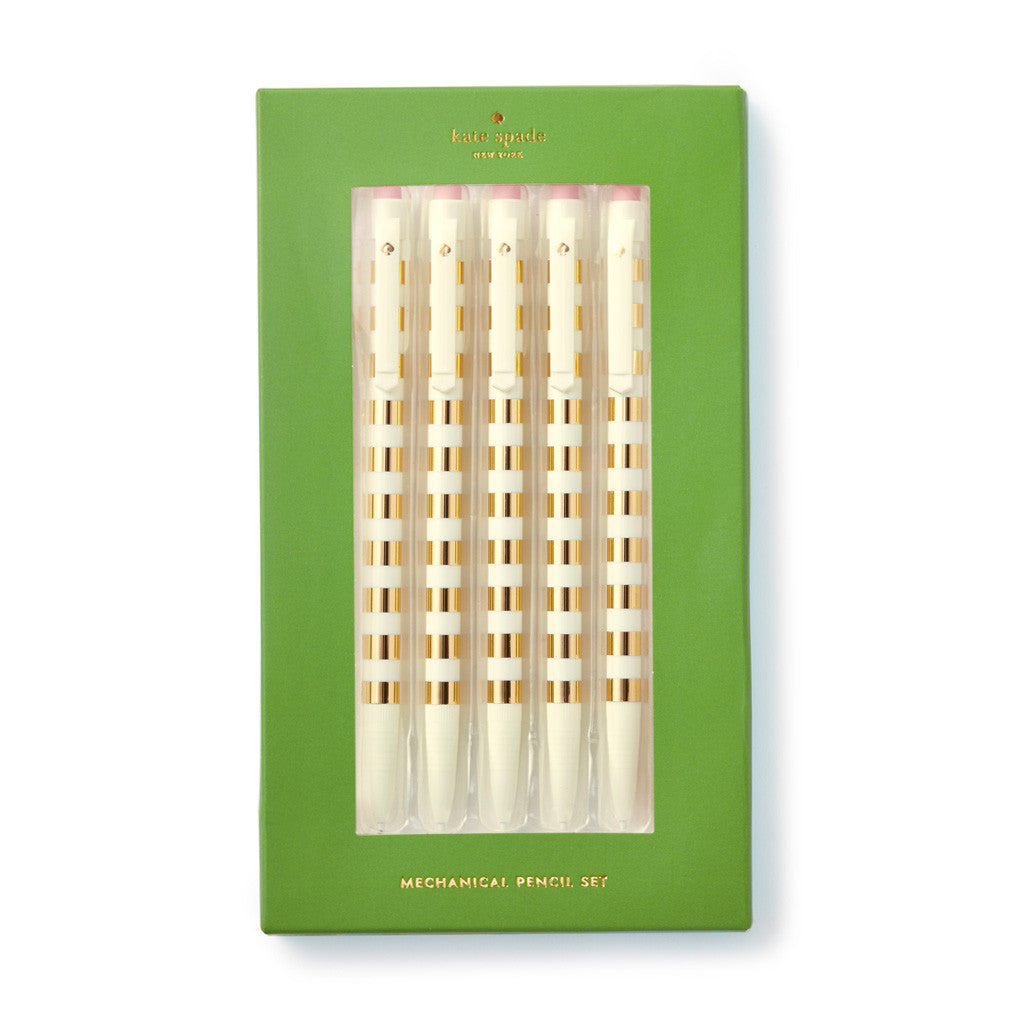 kate spade new york Mechanical Pencil Set - Gold Stripe