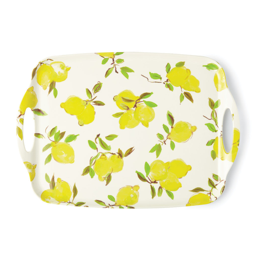 kate spade new york melamine serving tray - lemons