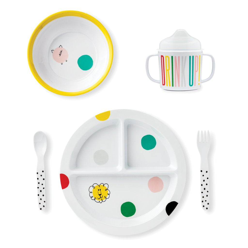 kate spade new york Baby Melamine Dining Set - Hey Baby