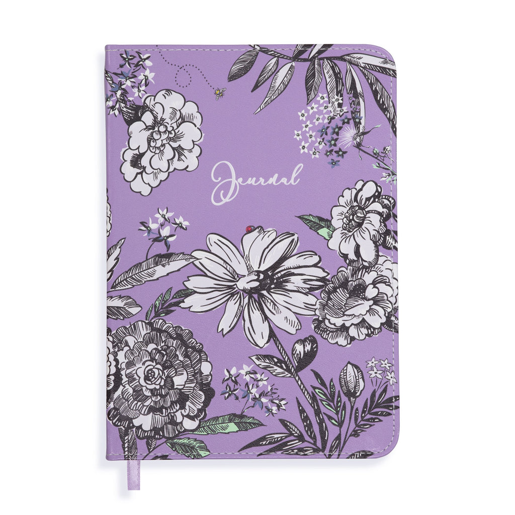 Vera Bradley Leatherette Journal, Lavender Meadow
