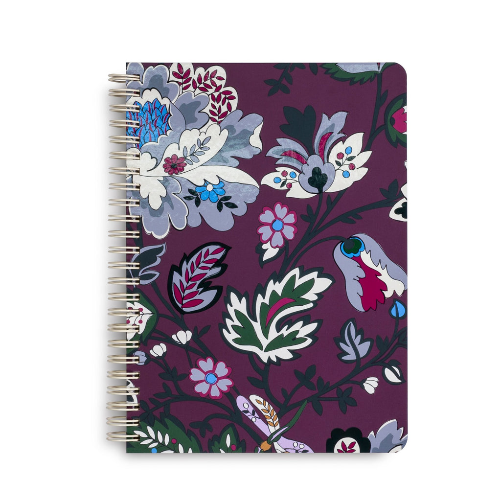Vera Bradley Mini Notebook With Pocket, Bordeaux Blossoms