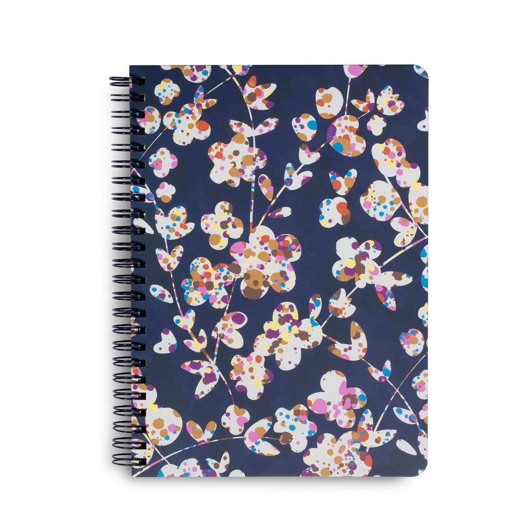 Vera Bradley Mini Notebook With Pocket, Cut Vines