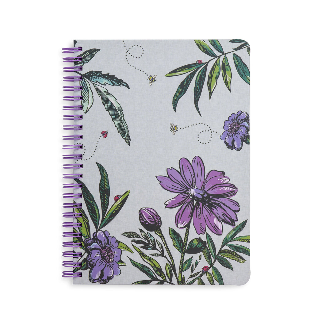Vera Bradley Mini Notebook With Pocket, Lavender Meadow