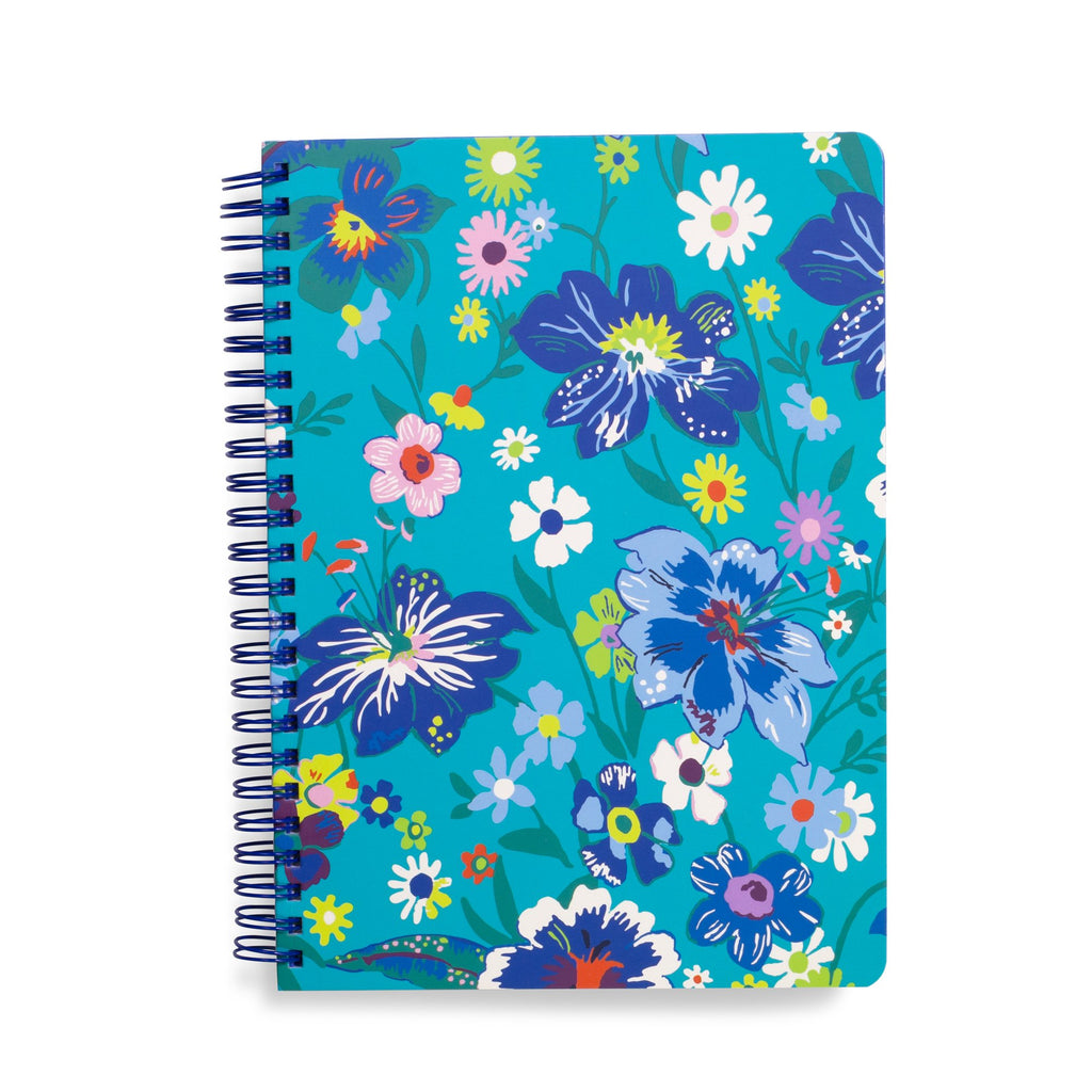 Vera Bradley Mini Notebook With Pocket, Moonlight Garden