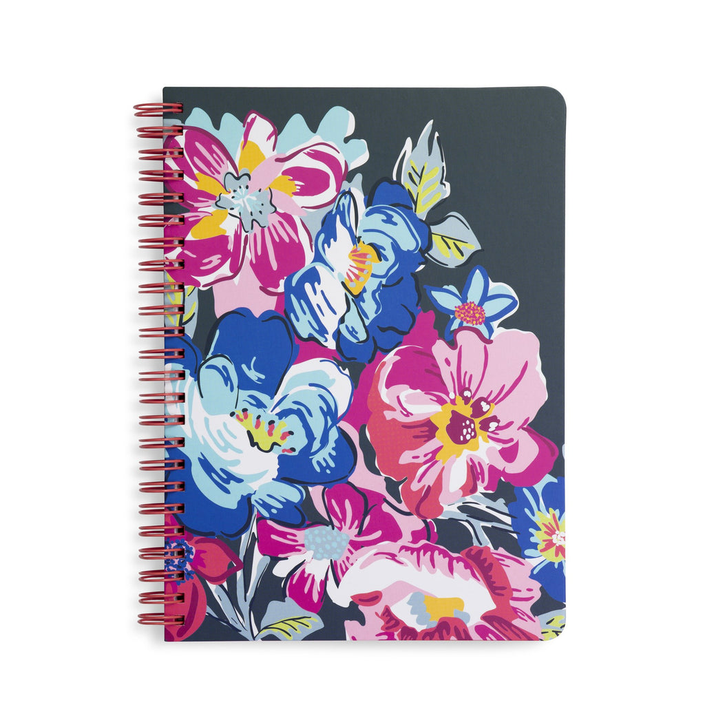Vera Bradley Mini Notebook With Pocket, Pretty Posies