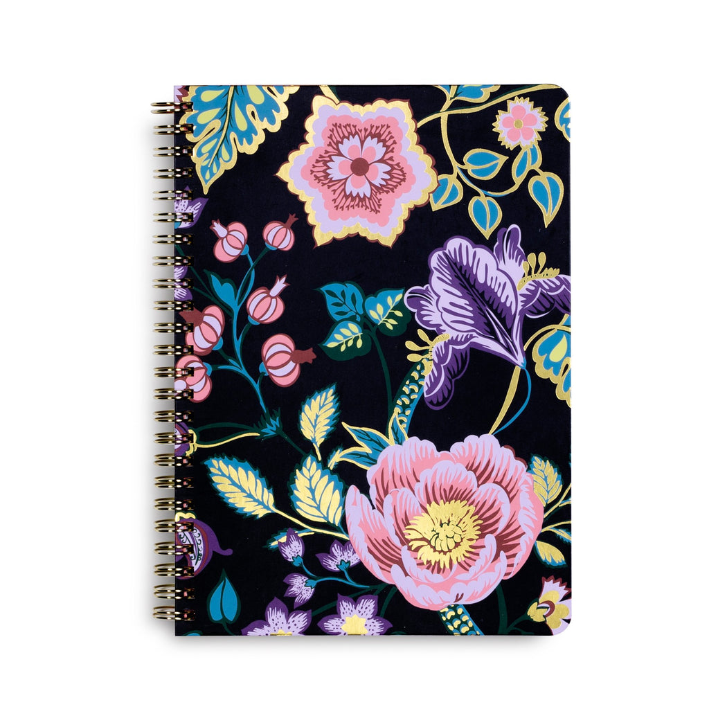 Vera Bradley Mini Notebook With Pocket, Vines Floral