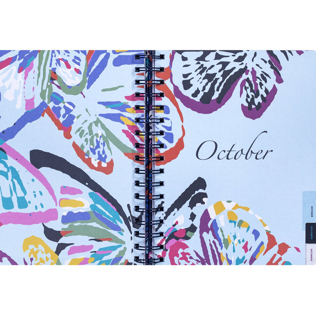 Vera Bradley 17-month Medium Planner, Butterfly Flutter (Aug-Dec)